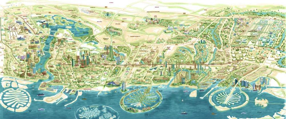 Resultado de imagen de dubai map
